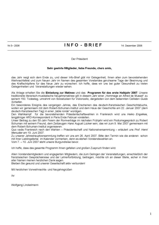 Infobrief 2006 5 Deutsch Französische Gesellschaft Bonn Und Rhein